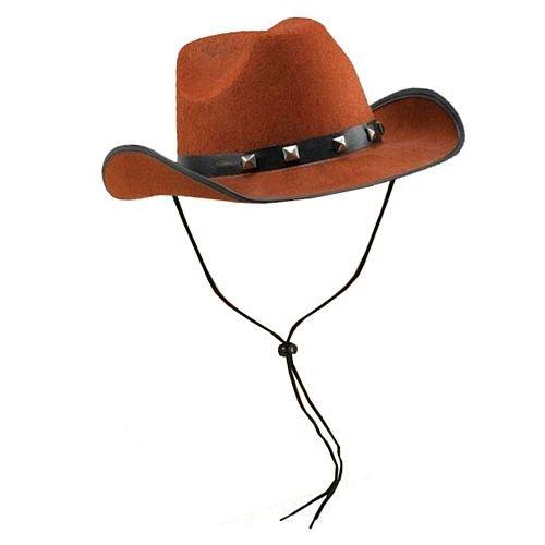 idealWigsNet Brown fühlte Sich Cowboy-Hut