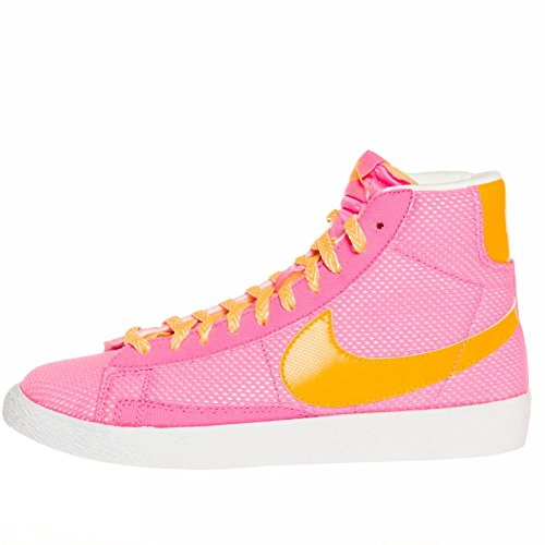 Nike Schuhe Blazer Mid Vintage (GS) Unisex pink glow-atomic mango-white (539930-602), 36, pink (Nike Schuhe Blazer Für Frauen)
