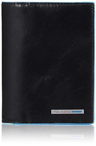 Piquadro PU3243B2/N Blue Square Portafoglio, Nero, 12 cm