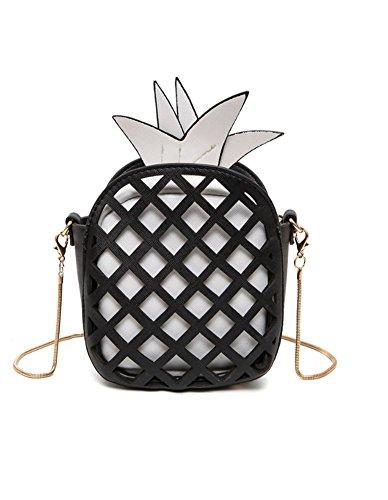 Santwo - Borsetta senza manici donna Black C(pineapple)