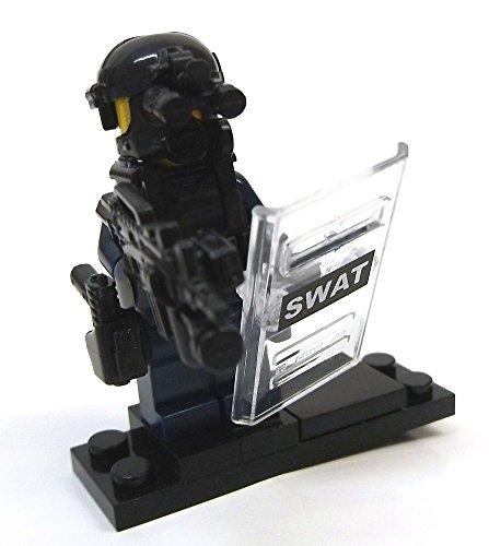 Modbrix 8236 – 2 Stück Custom SWAT Minifiguren aus original Lego© Teilen - 3