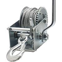 YSSP Remolque 600 Libras de Acero del Cable del Torno de Mano del Engranaje de transmisión del cabrestante ATV Barco de Altas Prestaciones
