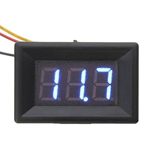 Bluelover 0,36 Zoll Dc 0-30V 3 Draht Led Voltmeter Digital Anzeigetafel Volt Meter -Blue
