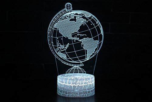 Lámpara 3D Ilusión óptica Luz Nocturna 7 Colores Decoracion LED lampara Control Táctil Control remoto Conector USB Decoracion de dormitorio, Globo,niños regalo de navidad de cumpleaños