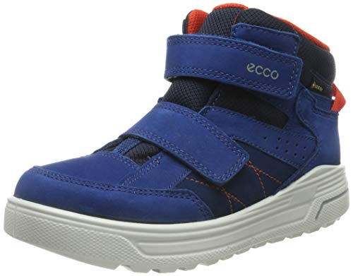 ECCO Jungen URBAN Snowboarder Hohe Sneaker, Blau Poseidon/Fire 51290, 29 EU