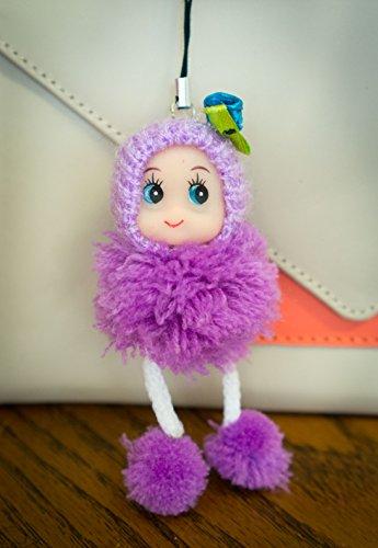 cute-vestibilita-aderente-e-confortevole-in-lana-con-pompon-bambola-di-peluche-charm-portachiavi-key