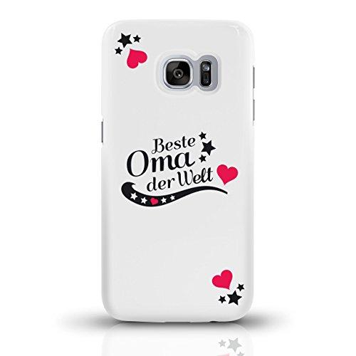 """JUNIWORDS Handyhüllen Slim Case für Samsung Galaxy S7 mit Schriftzug """"Beste Omader Welt"""" - ideales Weihnachtsgeschenk für die Oma- Motiv 2 - Handyhülle, Handycase, Handyschale, Schutzhülle für Ihr Sma motiv 2"""