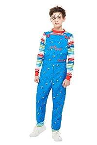 Smiffys 82005L - Disfraz de Chucky con licencia oficial para niños, talla L, para niños de 10 a 12 años