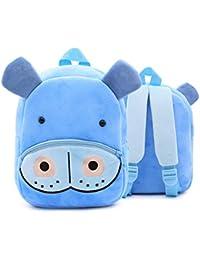 Diseño de hipopótamos para niños Mochilas Lindas Mochilas de Peluche Niñas pequeñas Niños Dibujos Animados Animales