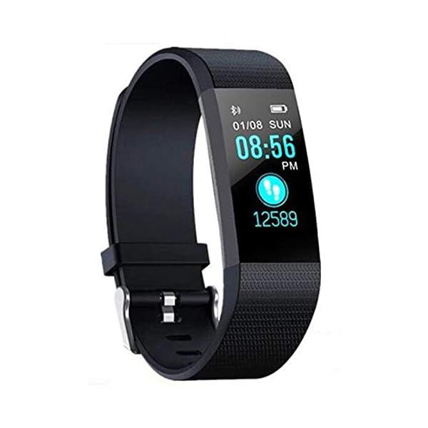 Fitness Tracker, reloj de seguimiento de actividad con monitor de frecuencia cardíaca, IP67 a prueba de agua con contador de pasos, contador de calorías, reloj de podómetro para niños y mujeres 1