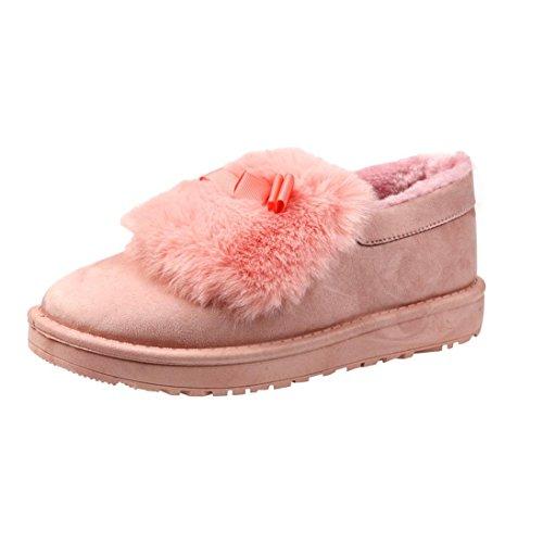 Et Flat Bottes Femmes Chaussures Mode Fourrure Lazy Lined De Neige fdx6qZ6w