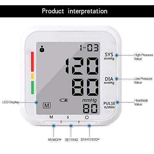 Monitor automático de presión arterial brazalete, monitores de presión arterial alta por portátil de pantalla grande BP muñeca brazalete presión arterial kit, latido cardiaco irregular monitor de BP