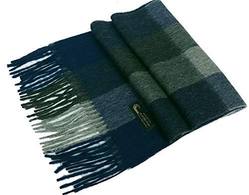 Gfm sciarpa da uomo in lana 100% di alta qualità per l'autunno e l'inverno.lana 100% (by34) - blues