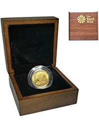 1898 Queen Victoria WH Gold Sovereign - Luxury Presentation Case with Air Tight Coin Capsule