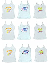Lenity Girls Printed Cotton Camisole Slips/Vests, (Pack of 9)