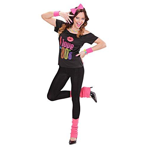 Imagen de disfraz de madonna años '80 vestido estrella del pop baile chica ropa aeróbic alternativa
