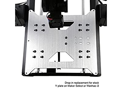 Wanhao Upgrade Y Wagenplatte f¨¹r Wanhao Duplicator i3/Monoprice Maker W?hlen Sie V1/V2/V2.1/Plus 3D-Drucker