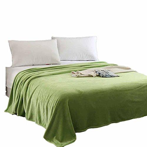 fanxing Home Bettwäsche Flanell Kuscheldecke Super Soft Warm aus massivem Warm Micro Plüsch Fleece Decke/Überwurf Teppich Sofa Betten (grün) (Micro-flanell-decke)