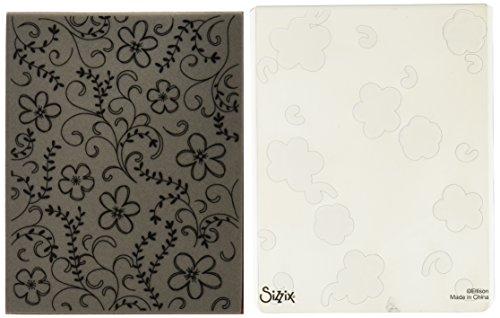 Sizzix Textured Impressions Embossing Ordner mit Stempel-Blumen & Ranken Set von Hero Arts -