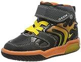 Geox Jungen J INEK Boy C Sneaker, Black/Orange, 25 EU