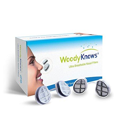 Filtros nasales / para la nariz Ultra Respirables (modelo nuevo) efectivos contra la fiebre del heno, alergias al polen, polvo, pelo y caspa de mascotas. Alivio contra el asma alérgica, sinusitis, rinitis, bloquean partículas aéreas alérgenas y funcionan como una máscara limpiadora y purificadora de aire portátil con filtro Hepa, una alternativa a las bandas con medicamentos rociados, kit de herramientas de jardinería ?2 marcos para filtros y 6 pares de filtros de repuesto)?IV-S?