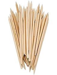 Lot de 50 batons en bois à deux extrémités pour repousser les cuticules