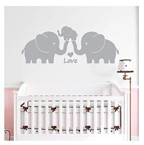 ilie mit Herzen Wand Aufkleber Baby Kinderzimmer Dekoration Wandtattoo Wand Aufkleber für Baby - Kindergarten Schlafzimmer Dekoration, 76,2 cm W x