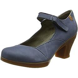 El Naturalista S.A N588 Pleasant Espiral Zapatos de tacón con punta cerrada, Mujer, Azul