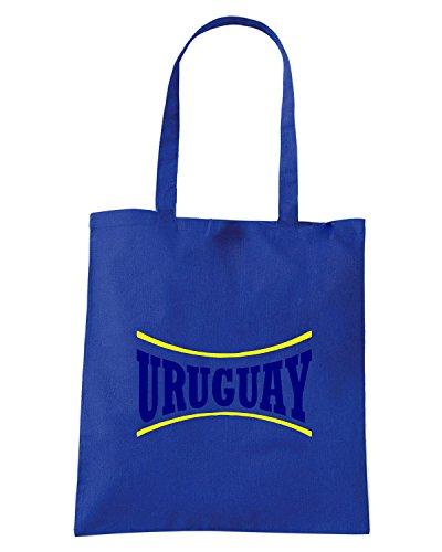 T-Shirtshock - Borsa Shopping WC0124 URUGUAY LA CELESTE Blu Royal