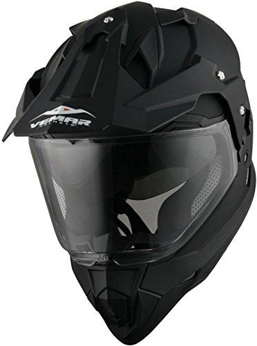 VEMAR KONA casco moto integrale enduro motard nero opaco taglia L
