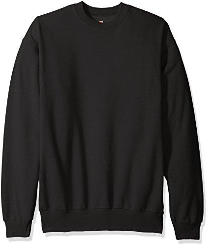Hanes Herren Fleece-Sweatshirt EcoSmart - schwarz - X-Groß Comfortblend Fleece Pullover Hoodie