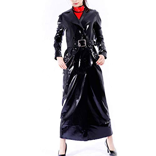 Unisex Latex Catsuit sexy Windmantel wasserdicht 100% Latex Gummi erotische Windjacke (XXL(B104 W88 H106 cm))