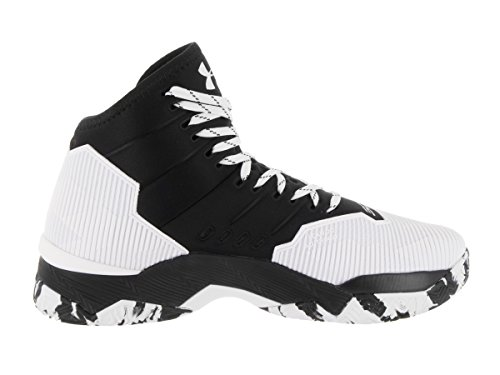 Under Armour Sc30 Topgame multicolore, chaussures de basketball homme Blanc/noir
