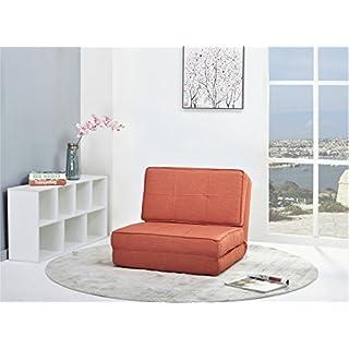 ARTDECO Schlafsessel Gästebett Jugendsessel Bettsessel (Stoffbezug orange klein)