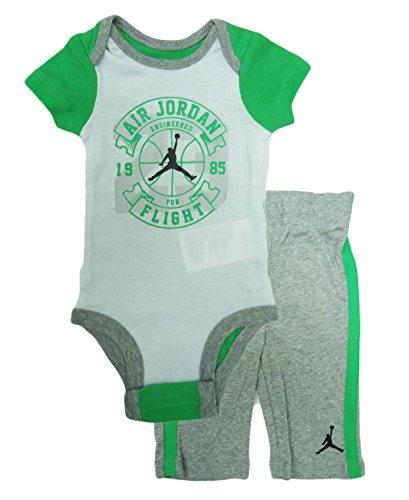 Nike Air Engineered For Flight Bodysuit und Hose (0-3 Monate, Dk Gry HThr) (Baby-air Jordan Outfits)