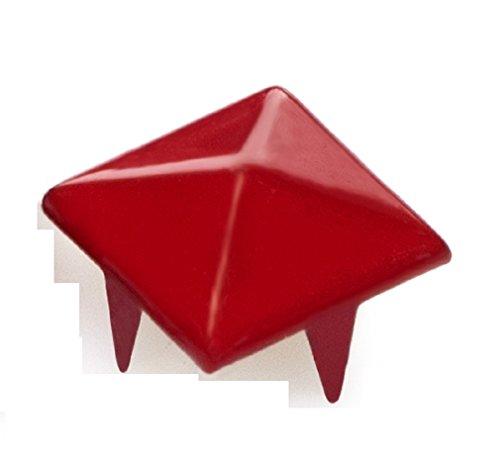 4sold (TM 100Acryl Rot Bullet Spike Kegel Nieten, Perlen, Nähen auf, Kleber auf, Stick auf, DIY Kleidungsstücke, Taschen und Schuhe Verzierung -