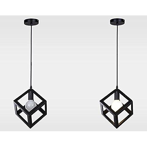 Moderna lampada pendente Ferro Arte Diamond Square lampadario è semplice