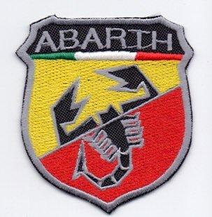Abarth-logo (Applikation Aufbügler Patches Stick Emblem Aufnäher Abzeichen