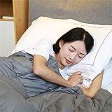 Coperta ponderata Morbida Cotone al 100% con Perle di Vetro Terapia del Sonno per Persone con ansia Autismo ADHD Insonnia o Stress Coperta ponderata,150x200