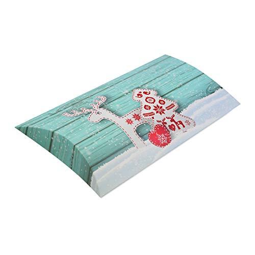 10er Pack Kissenverpackung Weihnachten Rentier, Herz und Baum, Kissenbox, Geschenkverpackung -