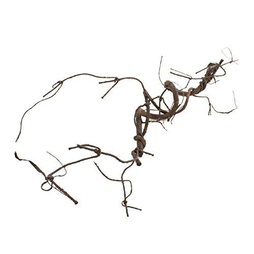 Künstlicher Korkenzieherzweig, braun, 75 cm - Kunst Zweig / Frühlings Deko - artplants
