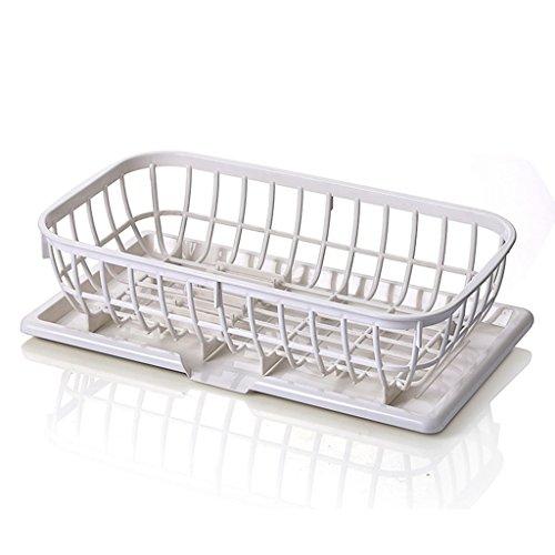&étagère de rangement Plateaux de cuisine Cuvette de cuisine en plastique Etagère de table Baguettes de table Boîte de rangement Goutte à goutte Plate Plate 41 * 23.5 * 13CM Rack de finition