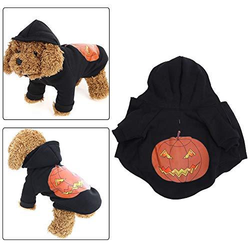 Haustier Hund Welpe Halloween Kürbis Weste Top Kostüm Warme Jacke Schwarz Mantel Cosplay Party Hoodie Kleidung