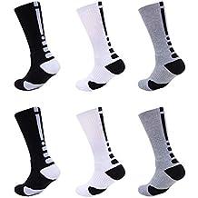 Calcetines Deportivos Algodón Antideslizante Transpirable Sock Medio Compresión Desodorante Engrosamiento Deporte Aire Libre Fútbol Running Baloncesto