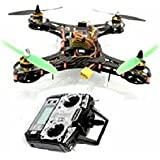 Kitprinter3D - Kit de montaje de drone Copter Quad 250, fibra de carbono, mando radiocontrol, 4 helices (QUAD250)