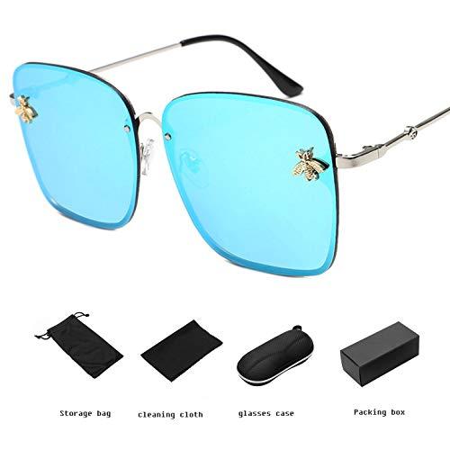 YANGPEI Polarisierte Sonnenbrille Frauen & Einfachen Stil GroßEn Rahmen Sonnenbrille & Frauen,D
