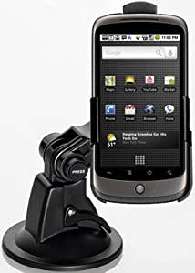 Das Original YAYAGO Starter Set für Ihr HTC Google Nexus One : Halter KFZ Halterung 360 grad drehbar für Ihr HTC Google Nexus One KFZ Halter Autohalterung + Kfz Ladekabel für Ihr HTC Google Nexus One + Displayschutzfolie + Sportliche Oberarmtasche + yayago Lanyard