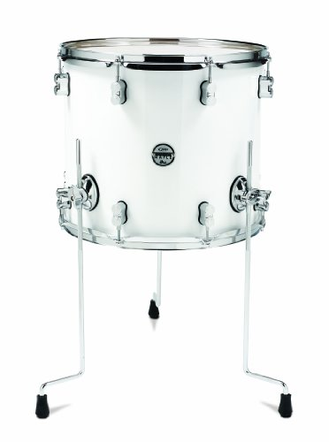 Pacific Drums pdcm1416ttpw 35,6x 40,6cm Floor Tom, mit Chrom Hardware, Perlglanz-Weiß