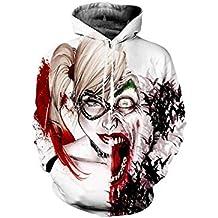 Nimpansa Mujer Hombres 3D Sudaderas con Capucha Sudadera De Juego Joker  Print Jersey Diariamente ec8f39a82f2