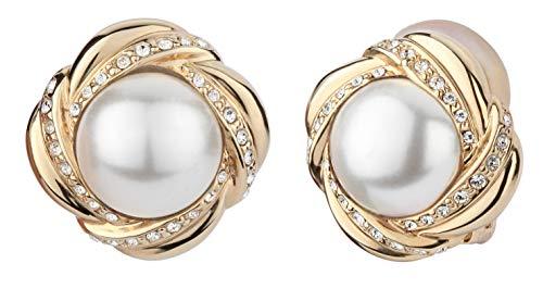 Traveller® Schmuck Ohrring Ohrclip mit Crystal from Swarovski - 22kt vergoldet- 114181